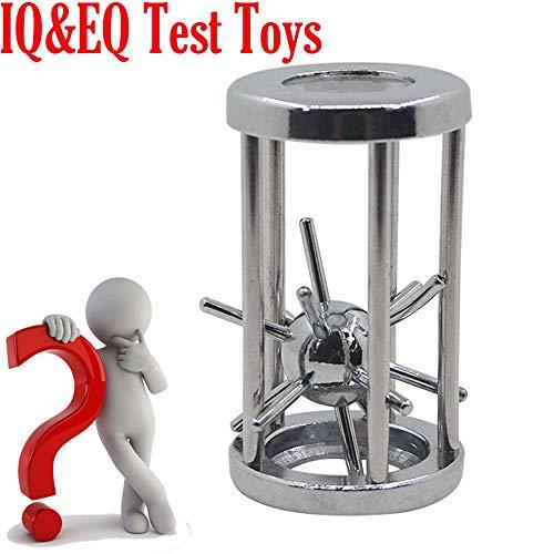 Euone  Magic Toys Clearance Sale , Intelligence Puzzle Lock Cast Metal Brain Teaser Magic Trick Toy IQ&EQ Test Toys