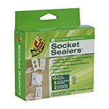 Duck Brand 283333 Socket Sealers Variety Pack, 16 Outlet Sealers and 6 Switch Plates, 2 Decorative Covers, White