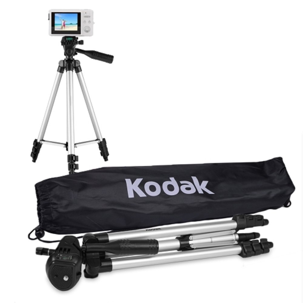 50'' Kodak TR501 Superior Control Camera Tripod, 3 Way Pan Head, Bubble Level
