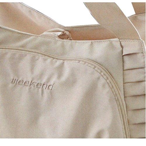 Damen Shopper beige Handtasche Reisetasche Umhänge Sport Tasche Messenger Bag