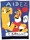 WAR PROPAGANDA HELP SPAIN SPANISH CIVIL MIRO AID VINTAGE ADVERT POSTER 2693PY