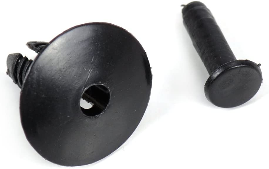 DWCX CA01949 Nylon Door Sill Rivet Bumper Trim Clip Retainer 10 Pieces