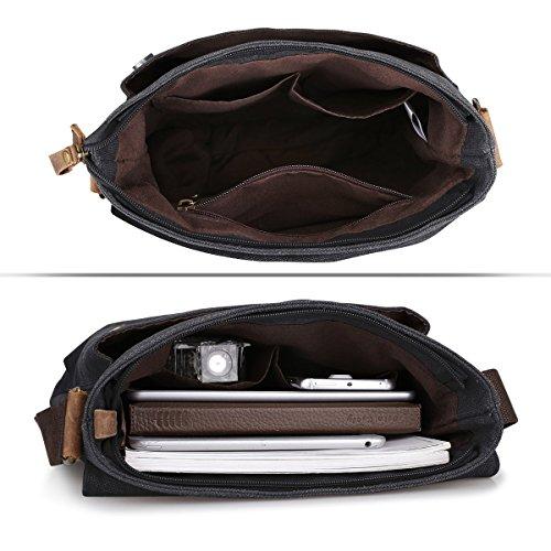 Single S Business Messenger Ipad Bag Vintage Crazy For Men Leather Bag Satchel Horse Fit Travel Shoulder Retro zone Briefcase Canvas Leisure Laptop Multi Students function z6Orwz