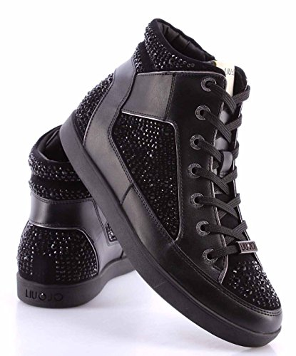 JO woman AURA S66013 sneakers P0254 high Black LIU AfxqBw