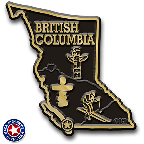 British Columbia Canadian Province Map Magnet