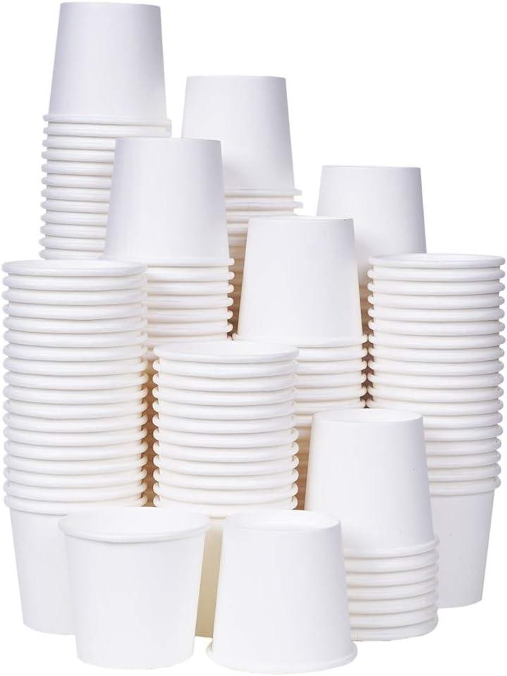 [TashiBox] 3 oz white paper bath cups, 200 count (200): Kitchen & Dining