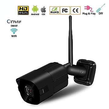 Mengen88 Cámara de Seguridad IP 1080P vigilancia al Aire Libre IP66 Impermeable con 2 vías de
