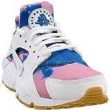Nike Womens Air Huarache Run Print Athletic & Sneakers White
