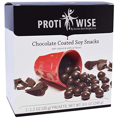 (ProtiWise - High Protein Diet Snack | Chocolate Soy Puffs | Low Calorie, Low Fat, Low Sugar (5/Box))