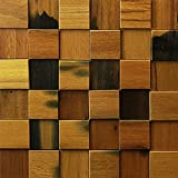 Art3d Decorative Wood Wall Tiles Handcrafted Wall Art of Historic and Weathered Wood Pack of 11 Panels 10.66 Sq Ft