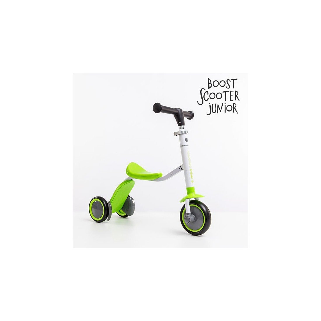 Apolyne - Patinete-Triciclo Boost Scooter Junior 2 en 1, 3 Ruedas, Patinete para Niño