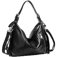 Heshe Vintage Women's Leather Shoulder Handbags Totes Top Handle Bags Cross Body Bag Satchel Handbag Ladies Purses