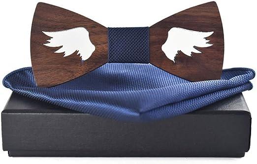 Pajarita de madera para hombre Hombres y mujeres ahuecan hacia ...