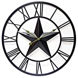 Cheap 27 Inch Large Metal Wall Clock with Tin Star, Patriot by Infinity Instruments