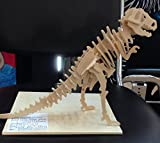 Model 3-D Wooden Puzzle Tyrannosaurus (T-Rex) Children DIY Gift Educational Toy Boy Girl
