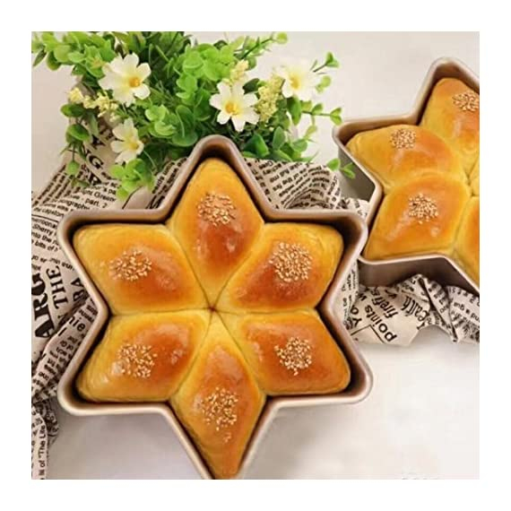 Gessppo Non-Stick Snowflake Shape Cake Mold Steel Pan Bun Bread Mould Kitchen Bakeware Resistant High Temperature, Reusable and Durable 1 ❤❤Quantity:1pc-----Material:Carbon Steel-----Size :21.2x21.2x5cm-----Color:gold-----Package Include:1pc cake mold ❤️❤️12 Cup Silicone Muffin - Cupcake Baking Pan / Non - Stick Silicone Mold / Dishwasher - Microwave Safe; 2Packs Silicone Mini Muffin Pan, Silicone Molds for Muffin Tins, Cupcake Baking Pan (Red);Ware Platinum Collection Heritage Bundt Pan ❤️❤️Reusable Silicone Baking Cups, Pack of 12; Silicone Cake Mold Magic Bake Snake-DIY Baking Mould Tool Design Your Pastry Dessert with Any Pan Shape, 4 PCS/lot Nonstick Flexible Reusable Easy to Use and Wash, Perfect Gift Idea for Your Love