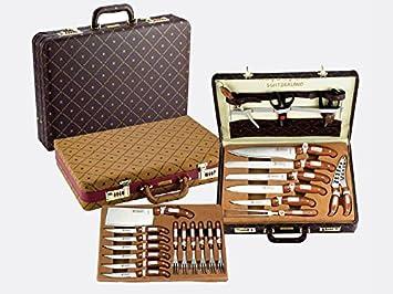 set utensili da cucina royalty line 25 pezzi con valigia in pelle