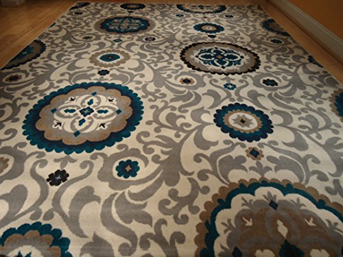 Beautiful brand new multi size area rug 8 11 and 5 8 set for Dining room rugs 7 x 10