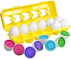 Kidzlane Color Matching Egg Set - Toddler Toys - Educational Color & Number Recognition Skills Learning Toy