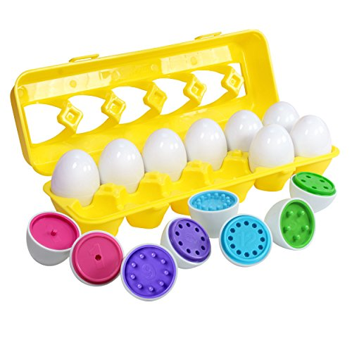 Color Matching Egg Set - Toddler Toys - Educational Color & Number Recognition Skills Learning Toy - Easter Eggs
