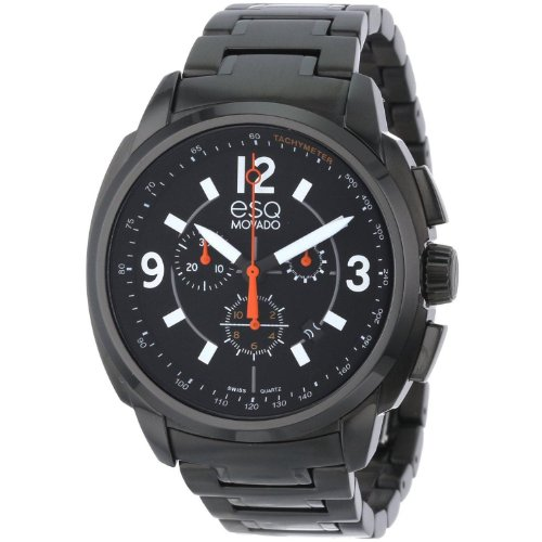 ESQ Excel Men's Watch All Black Monochrome Bracelet Chronograph Dial Watch 07301418