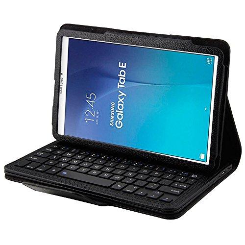 Samsung Galaxy Tab E 9.6 Folio Case, Galaxy Tab E 9.6 Keyboard Case, Leather Protective Smart Case with Removable Bluetooth Keyboard for 9.6'' Samsung Galaxy Tab E 9.6 [T560/T561]
