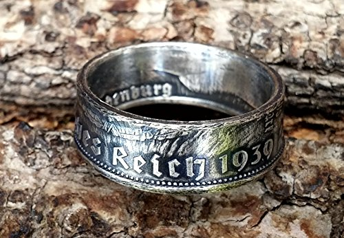 Coinring Münzring Ring Aus Münze 2 Mark Deutsches Reich 1939