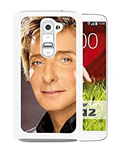 Beautiful Designed Cover Case With Barry Manilow Face Eyes Suit Shirt (2) For LG G2 Phone Case