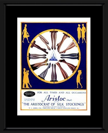 Aristoc Stockings - 1920 Framed and