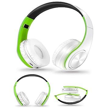 LVMMLE Auriculares Inalámbricos Auriculares con Bluetooth Auriculares Ajustables Auriculares con Micrófono para Pc Móvil Teléfono Mp3