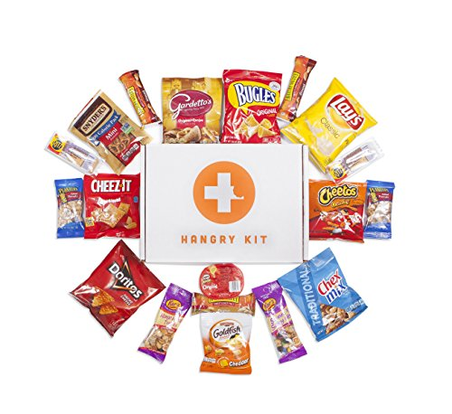 HANGRY KIT - Salty Kit - Snack Sampler - Care Package - Gift Pack - Variety of 20 Chips, Nuts & Crackers Included - 100%