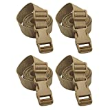 XTACER Backpack Accessory Strap Luggage Straps Cover Strap Sleeping Bag Strap with Buckle (TAN - Release Buckle Straps (4-Pack))