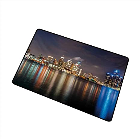 Amazon Com Duommhome Door Mat Customization Detroit Modern