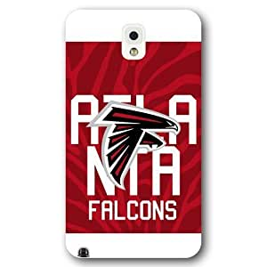 UniqueBox Customized NFL Series Case for Samsung Galaxy Note 3, NFL Team Atlanta Falcons Logo Samsung Galaxy Note 3 Case, Only Fit for Samsung Galaxy Note 3 (White Frosted Shell)