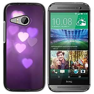 TopCaseStore / la caja del caucho duro de la cubierta de protección de la piel - Purple Lights Night Dark Violet - HTC ONE MINI 2 / M8 MINI