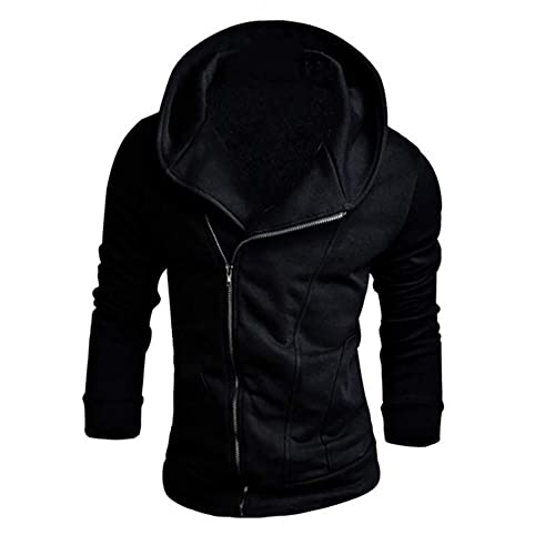 14850a9a353dd Amazon.com: Amiley mens hoodies,Men's Fashion Side Zipper Hoodie Tops Solid  Hooded Sweatshirt Outwear: Shoes