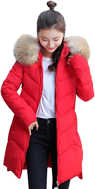 Red Parka Coat Womens