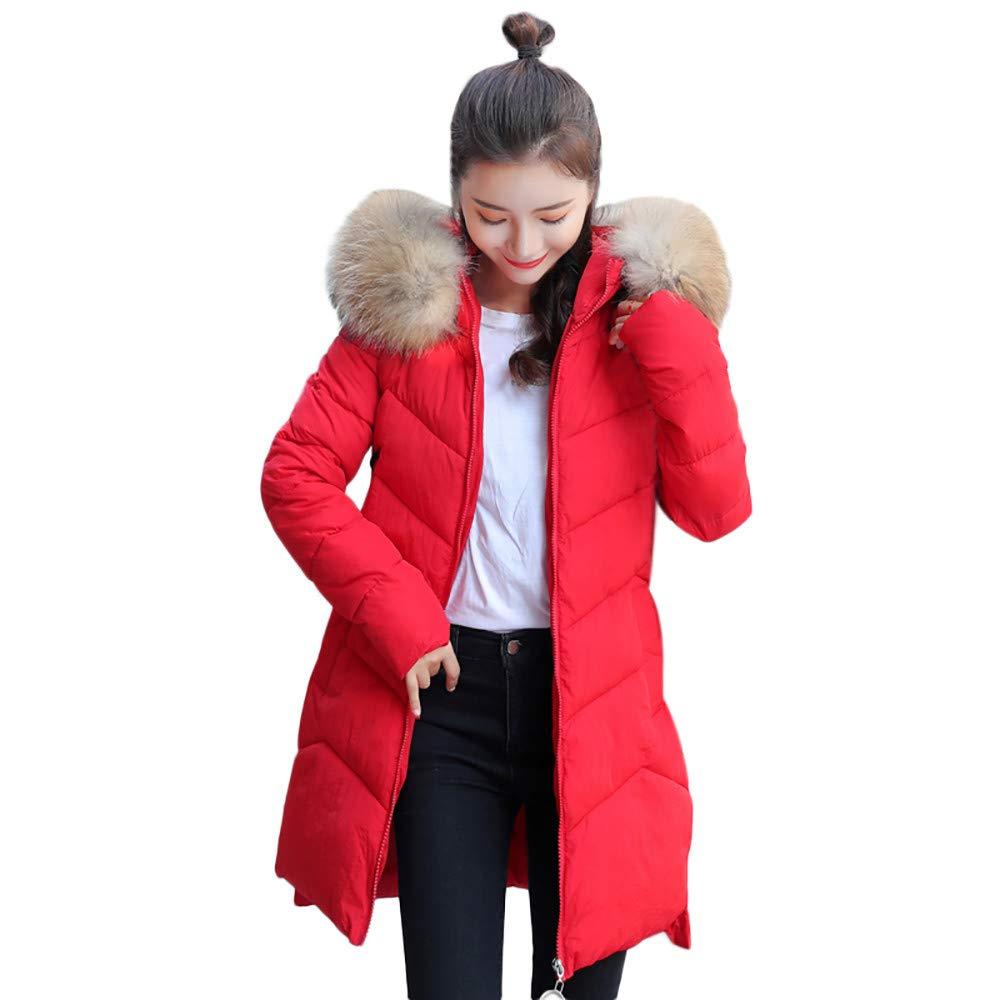 PENATE Women's Slim Down Jacket Winter Warm Fashion Hooded Cotton Coat Outfit