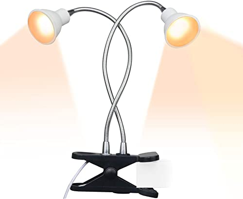 ACKE-Grow-Light-Plant-Light Sunlike Gooseneck Growing Lamps Dual Head with Clamp for Indoor Plants