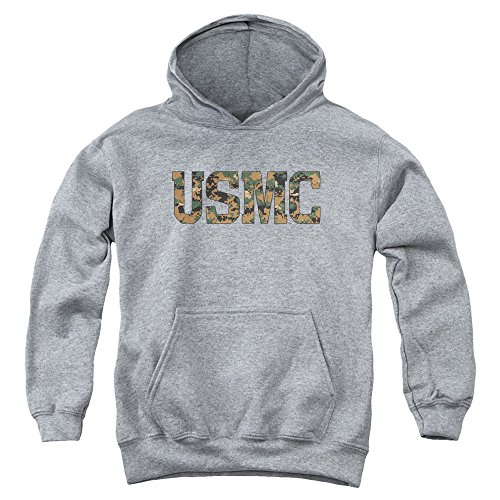 Trevco US Marine Corps USMC Camo Fill Unisex Youth Pull-Over Hoodie For Boys and Girls