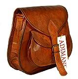 ADIMANI Hippe Leather Purse Crossbody Shoulder Bag Travel Satchel Women Handbag Ipad Bag 11L 10H inches
