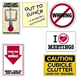 Office Humor Cubicle Signs - Office Fun & Office Stationery 6 pieces
