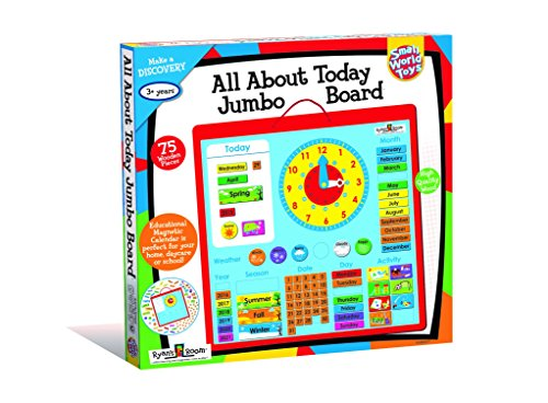 Small World Toys Ryan's Room Wooden Toys - All About Today Jumbo Board