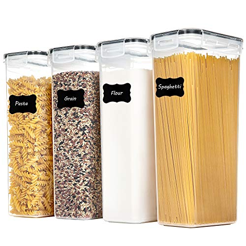 Vtopmart Airtight Food Storage Containers With Lids, 4 PCS 2.8L Pasta Containers for Pantry Organization and Storage…