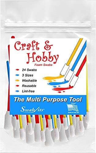 87-8202 Swab-its 24-Piece Package of Craft /& Hobby Multi-Purpose Foam Swabs