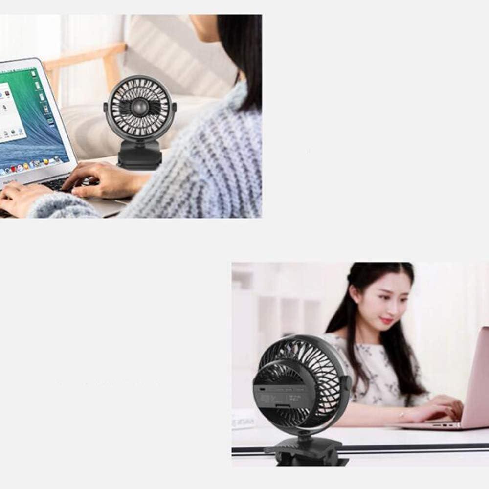 AA-SS-Desk Fan Ventilatore da Tavolo Piccolo Ventilatore Portatile da scrivania con Ventilatore da Tavolo Bianca