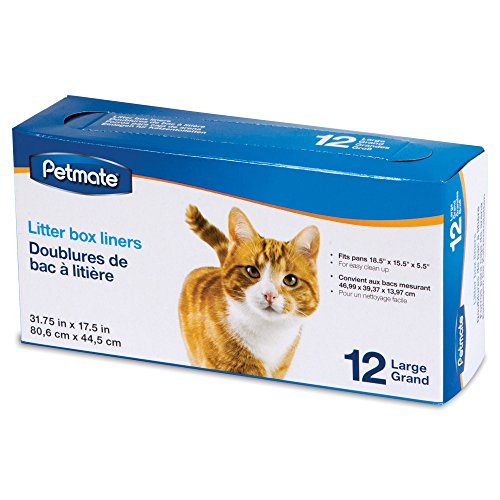Petmate Litter Box Liners for Cat, Count of 12, Large (Petmate Liner)