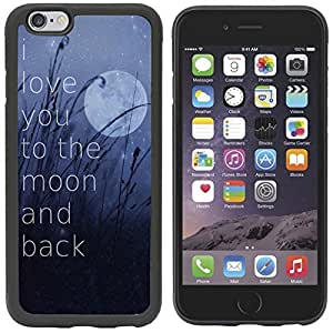 IPhone 6 Case,SYMBOL(TM)[Scratch Resistant] I Love You To The Moon And Back Quotes Snap On Hard Back Case Cover- Perfect Fit Case for iPhone 6 (4.7) by runtopwell