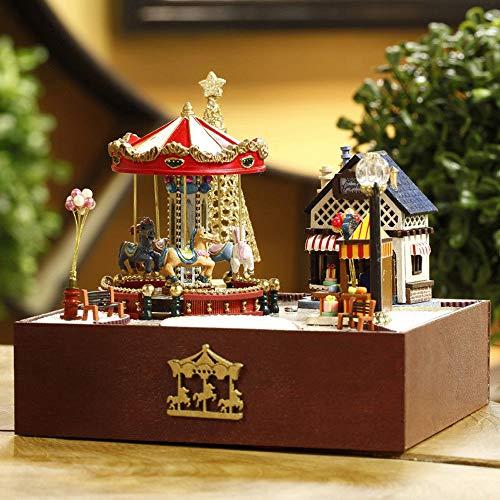 Craft DIY Wooden Miniature Doll Amusement Park Dollhouse Gifts Hot Sale 2019