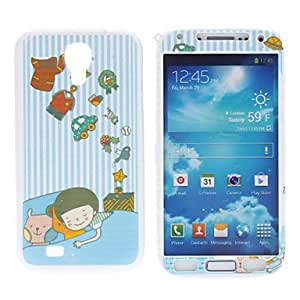 Sleeping Boy Pattern Protective Hard Front and Back Case for Samsung Galaxy S4 I9500